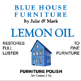 Blue House : Lemon Oil Label